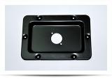 Панель для крепления разъемов (порт ввода) на 1Speacon потай 143x97x14мм, покрытие черное матовое